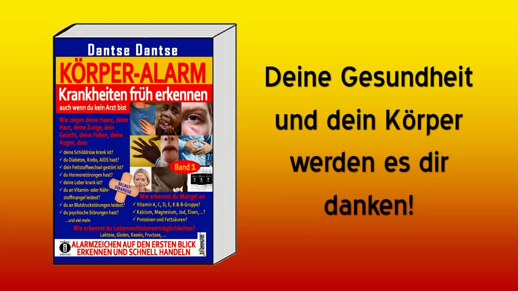 Buchvorstellung: KÖRPER ALARM Band 1 – Selbstdiagnose-Ratgeber von Dantse Dantse (indayi edition)