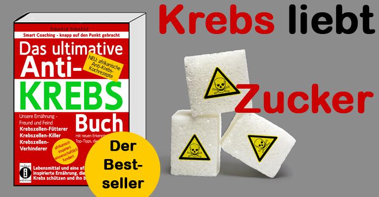 """Krebs liebt Zucker – Wie Zucker Krebs verursacht (""""Das ultimative Anti-KREBS-Buch"""" von Dantse Dantse) – indayi edition"""
