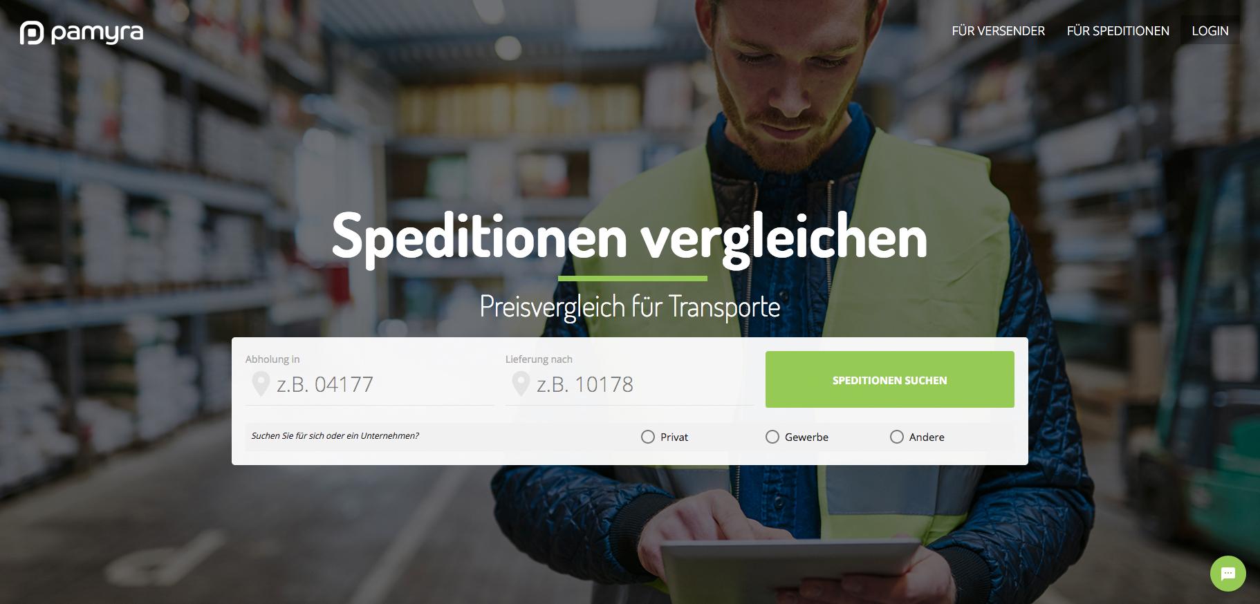 Pamyra.de wird international: Relaunch ermöglicht europaweiten Logistik-Vergleich