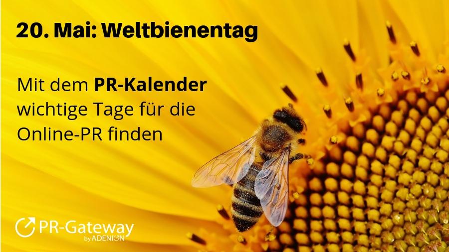 Der PR-Kalender zeigt: Der 20. Mai  ist Weltbienentag