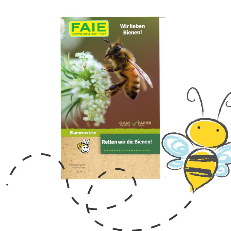 FAIE verschenkt 100.000 Bienenwiesen!