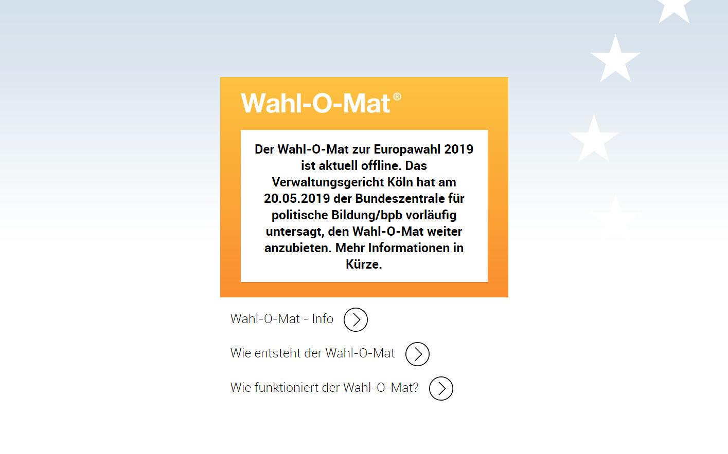 vor europawahl verboten grosse auswahl an automaten und gerichten