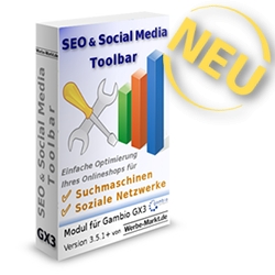 SEO & Social Media Toolbar für Gambio GX3