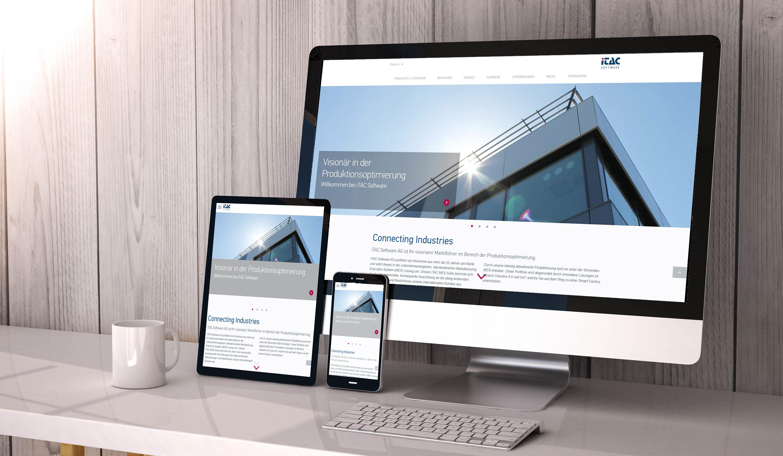 MES-Spezialist iTAC Software AG präsentiert neuen Webauftritt