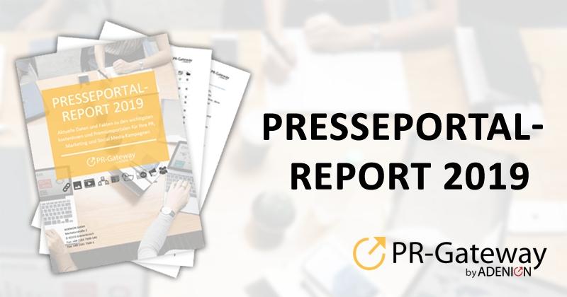 Portale im Vergleich: Der PR-Gateway Presseportal-Report 2019