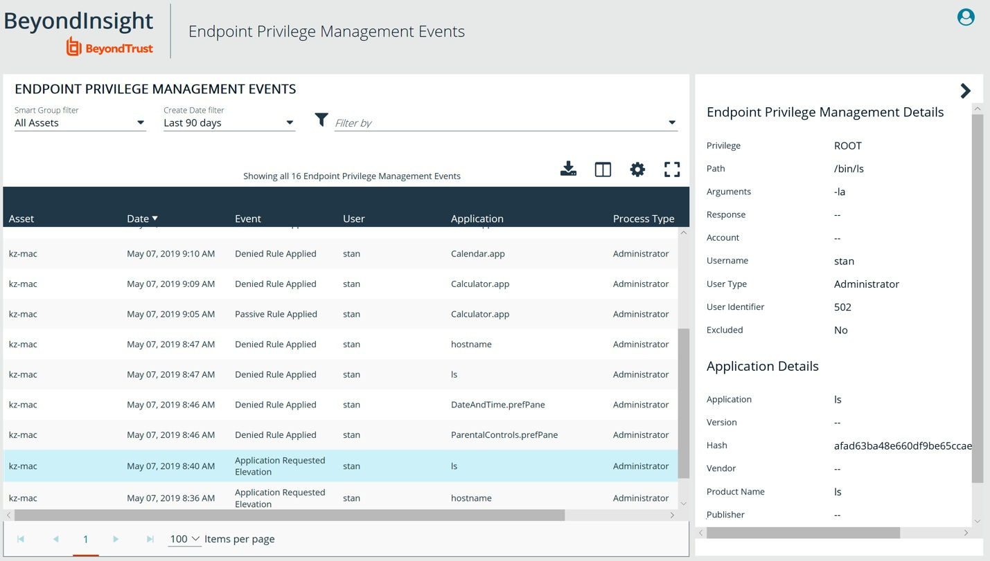 BeyondTrust Privilege Management for Windows and Mac 5.4