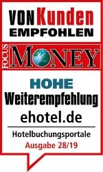 Überdurchschnittlich hohe Weiterempfehlung: ehotel erhält Auszeichnung in Verhaltensstudie von ServiceValue und FOCUS-MONEY