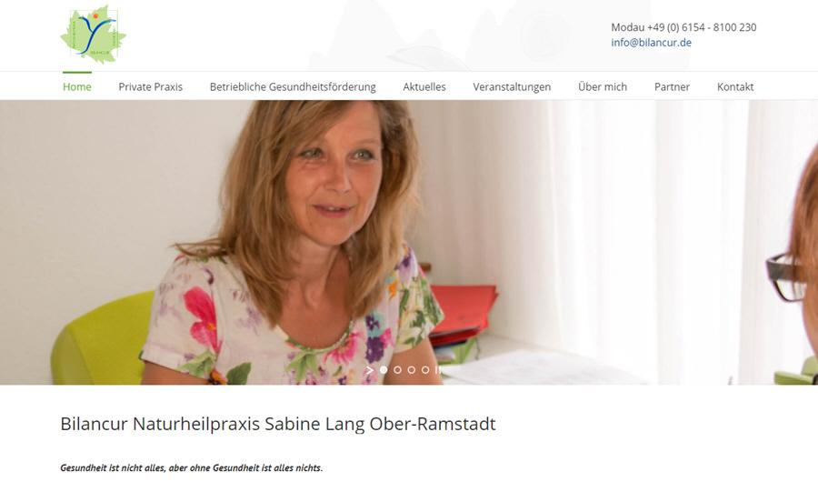 Naturheilpraxis Bilancur präsentiert neue Website
