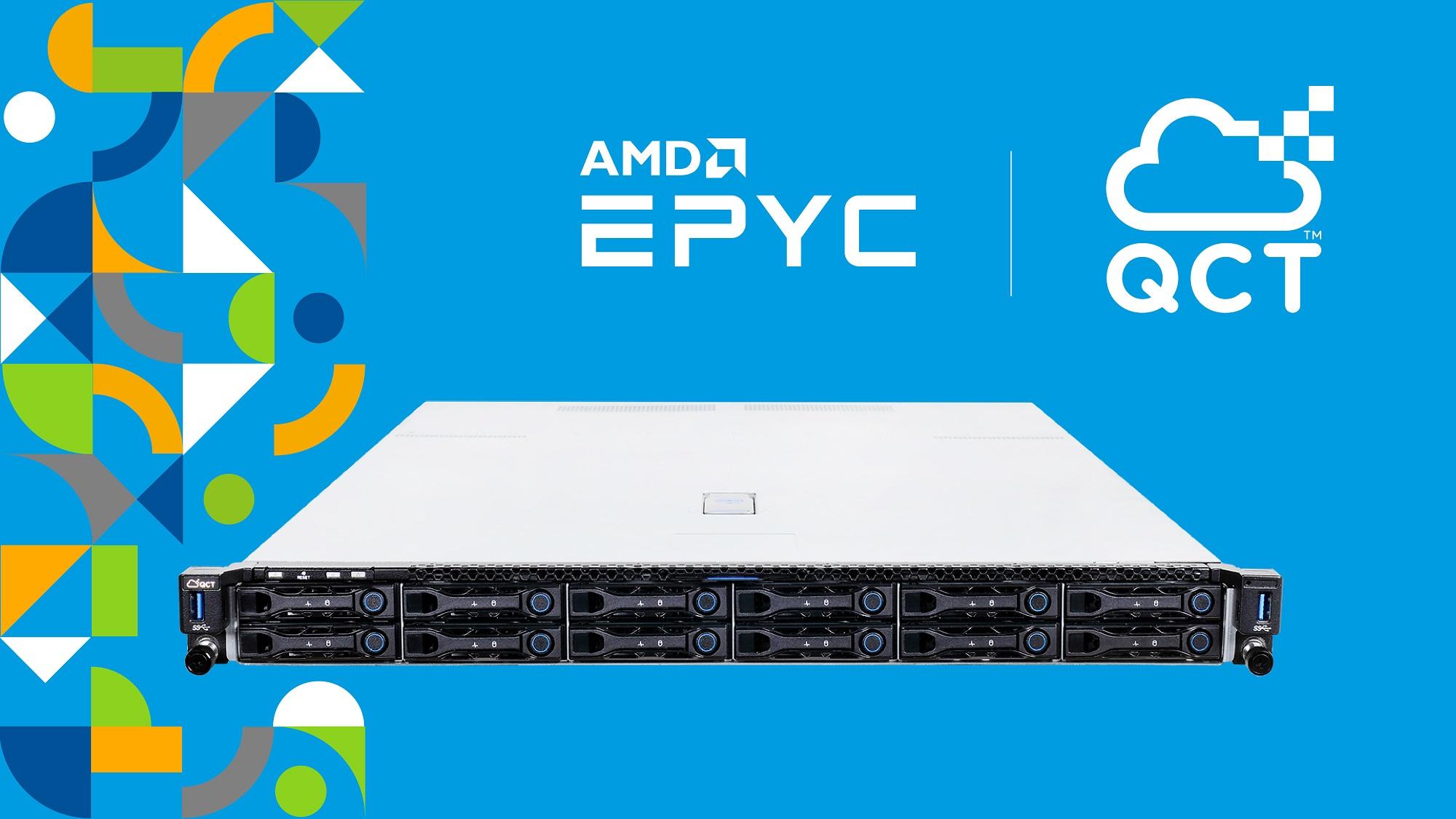 QCT bietet Kunden jetzt auch Systeme mit AMD EPYC™ 7002 Prozessoren zur Restrukturierung ihrer Datacenter an