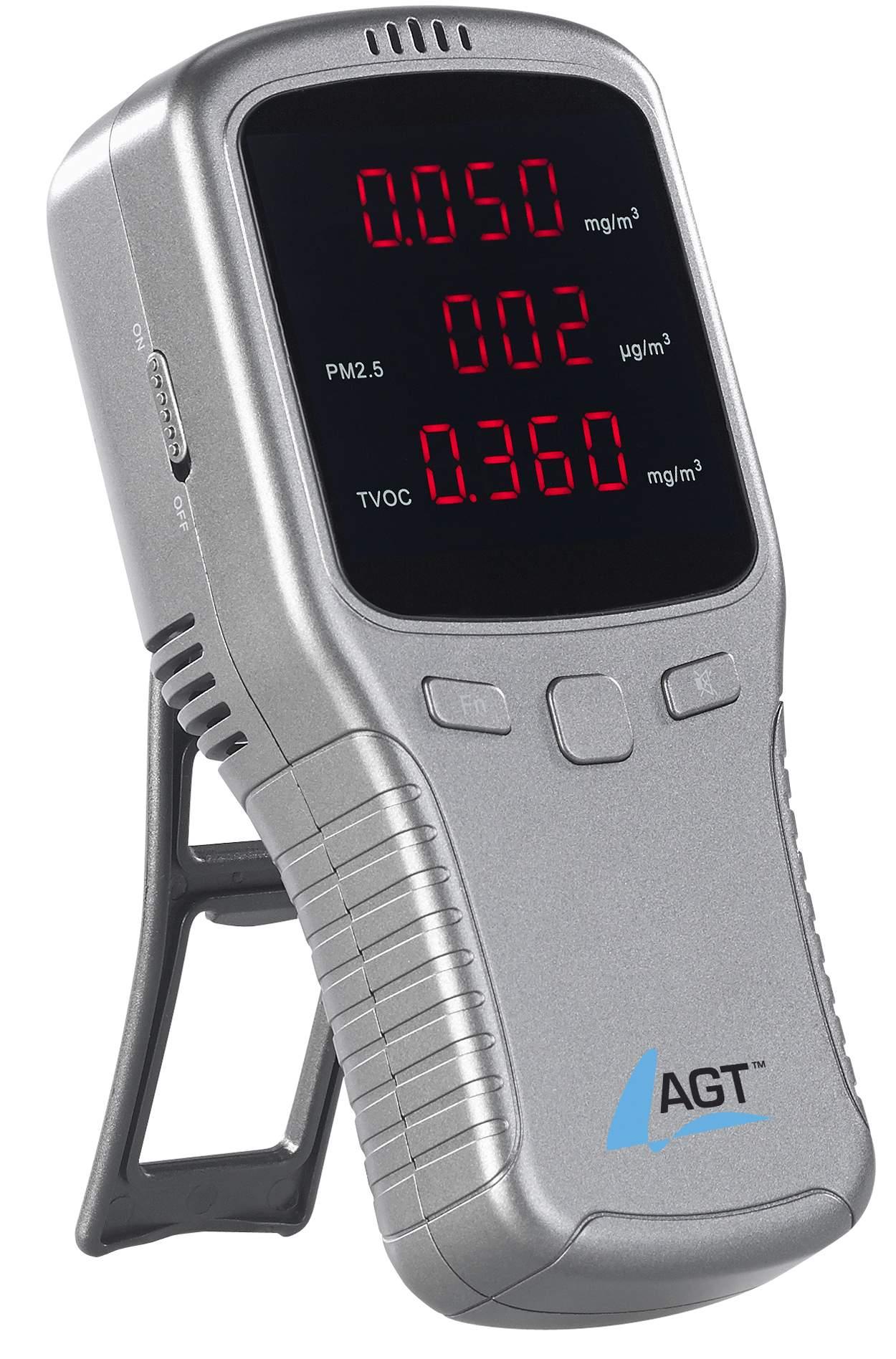 AGT 5in1-Akku-Feinstaub-Messgerät für schädliche Gase