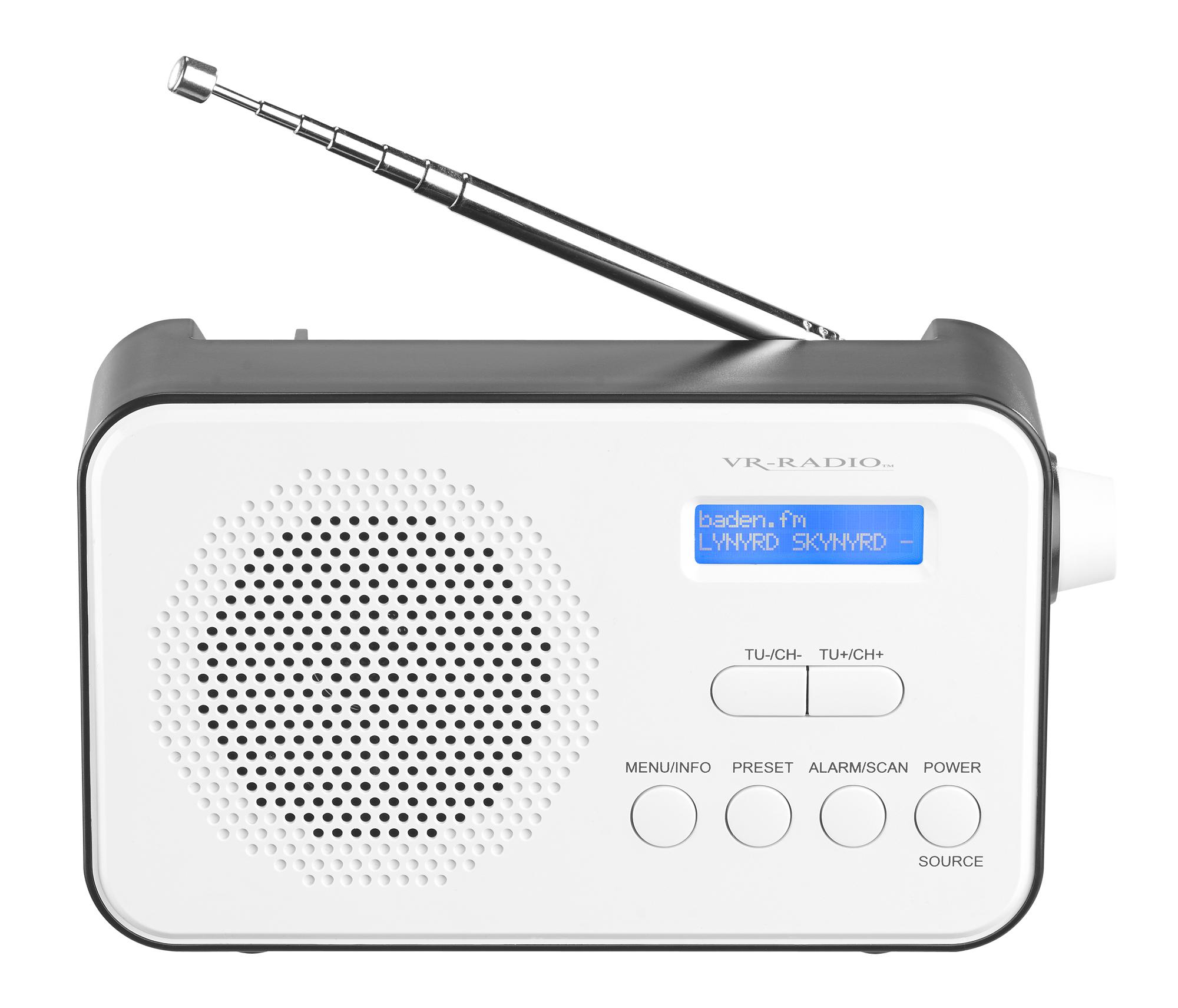 VR-Radio Mobiles Akku-Digitalradio DOR-215 mit DAB+ & FM