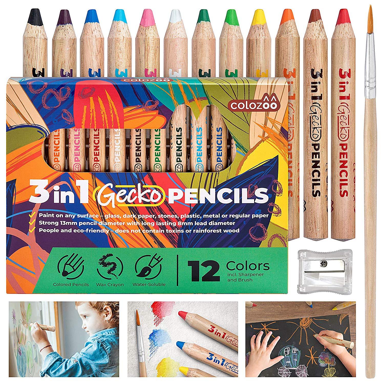 Colozoo 3-in-1 Gecko Stifte – Die besten Stifte für kleine Künstler