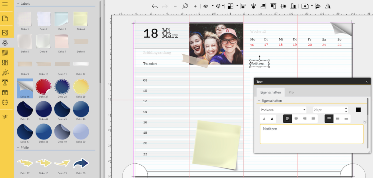 Digital Scrapbooking: Personalisierte Planer mit YouDesign PhotoBook und Calendar erstellen
