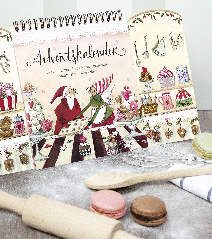 Silke Leffler illustriert Rezept-Adventskalender für den Grätz Verlag