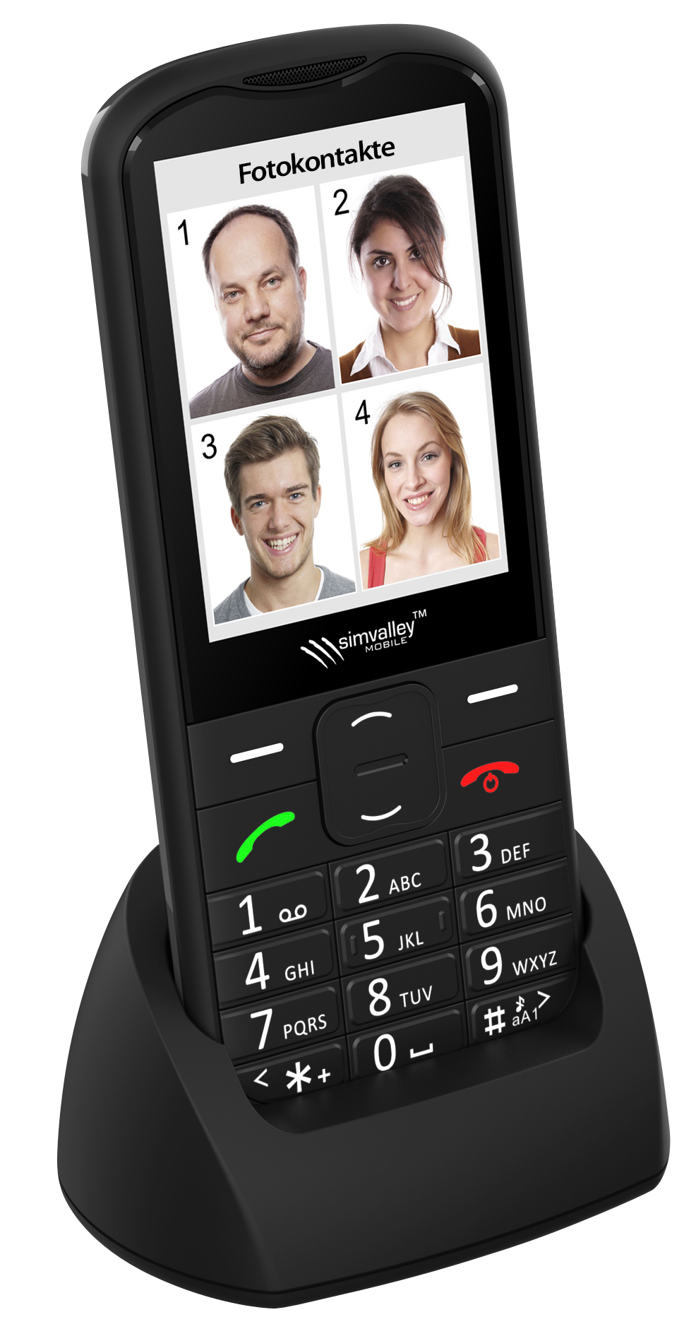 simvalley MOBILE Komfort-Handy XL-950, Garantruf Premium