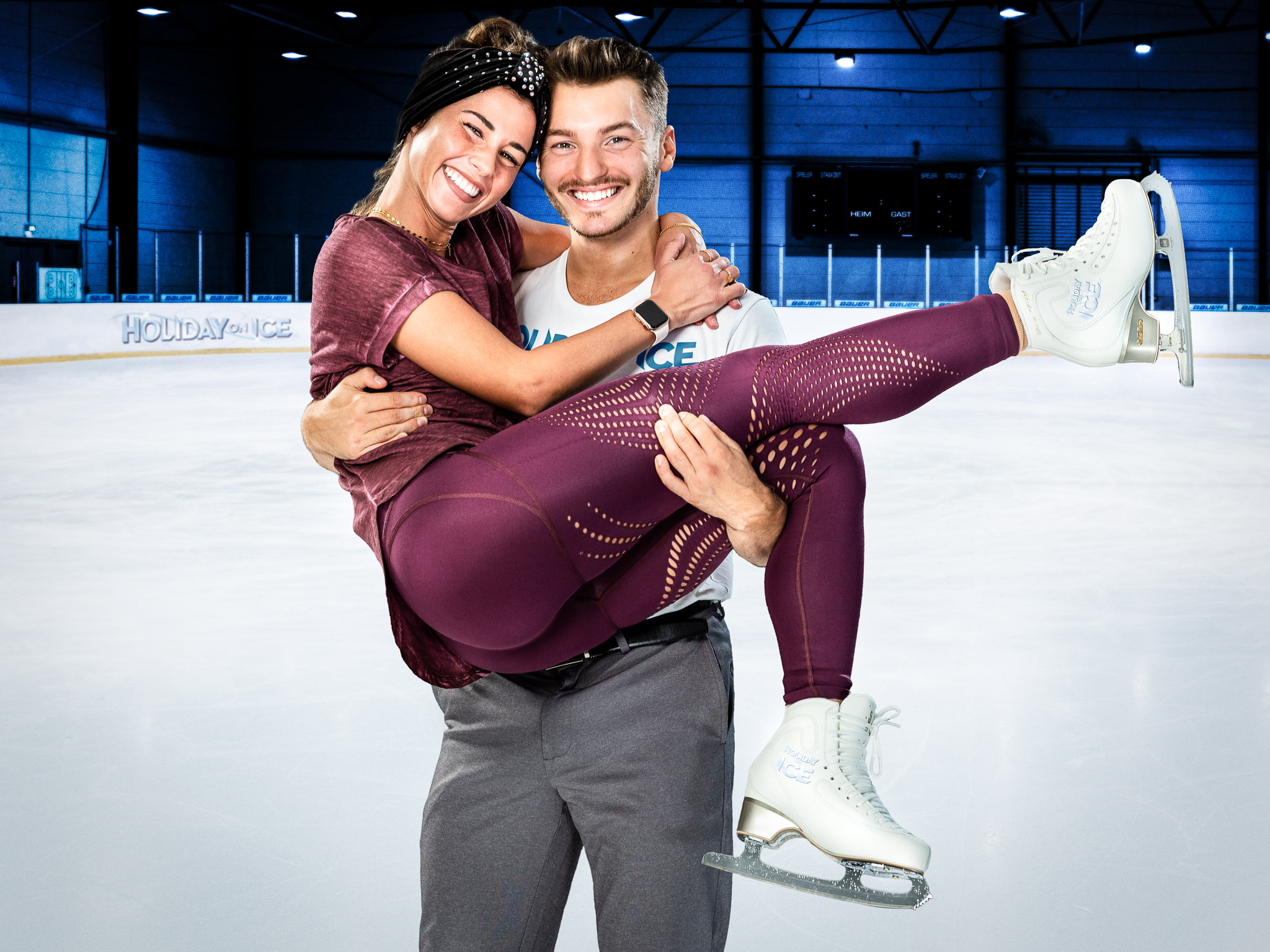 Joti Polizoakis ist Sarah Lombardis Eislaufpartner bei HOLIDAY ON ICE
