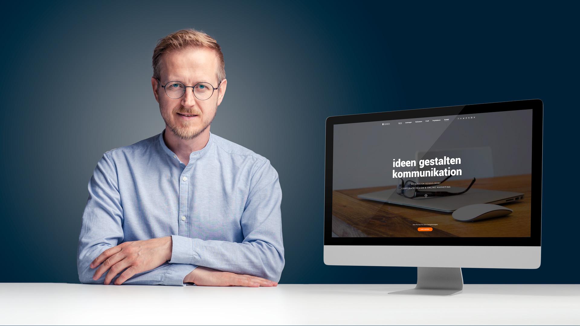 Modernes Webdesign aus Düsseldorf mit talklick.de