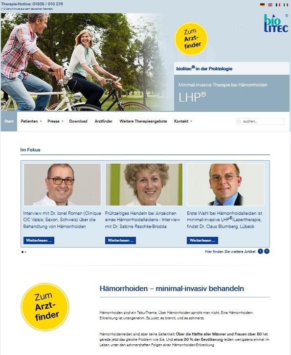 Hämorrhoiden im Alter: Mit Lasertherapie LHP und einer gesunden Lebensweise kein Problem!