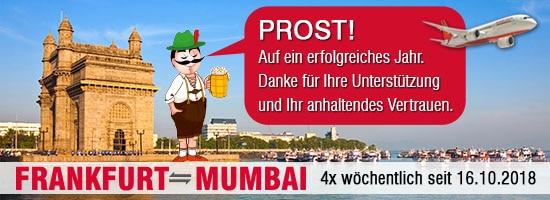 Namaste Mumbai ! Hello Frankfurt..