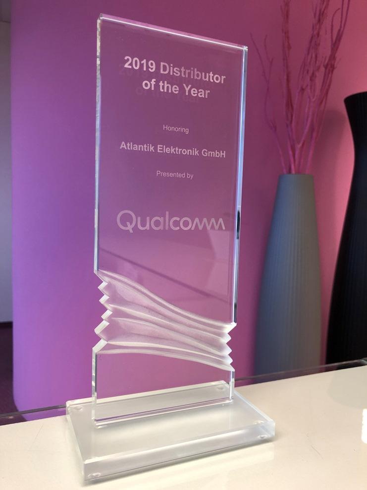 """Atlantik Elektronik GmbH als """"Distributor of the Year"""" von Qualcomm ausgezeichnet"""