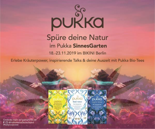 """Pukka SinnesGarten: """"Spüre deine Natur"""""""