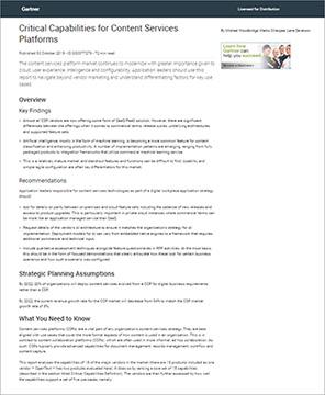 Gartner bewertet M-Files im Critical Capabilities Report für Content-Services-Plattformen 2019