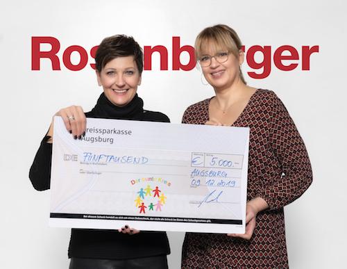 Rosenberger OSI überreicht Weihnachtsspende an den Bunten Kreis Augsburg