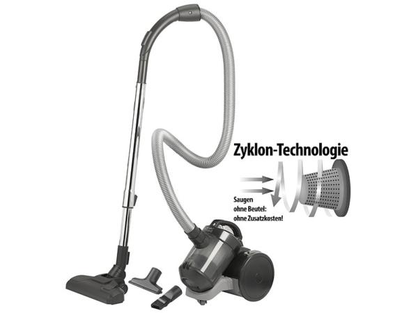 Sichler Haushaltsgeräte Zyklon-Staubsauger BLS-200 HEPA