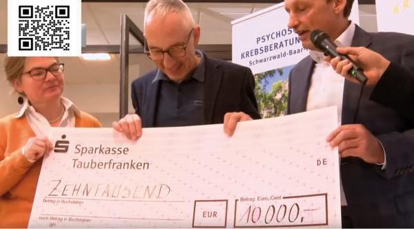 """Kettner Edelmetalle spendet 10.000 Euro an den Verein """"mit Krebs Leben e.V"""","""