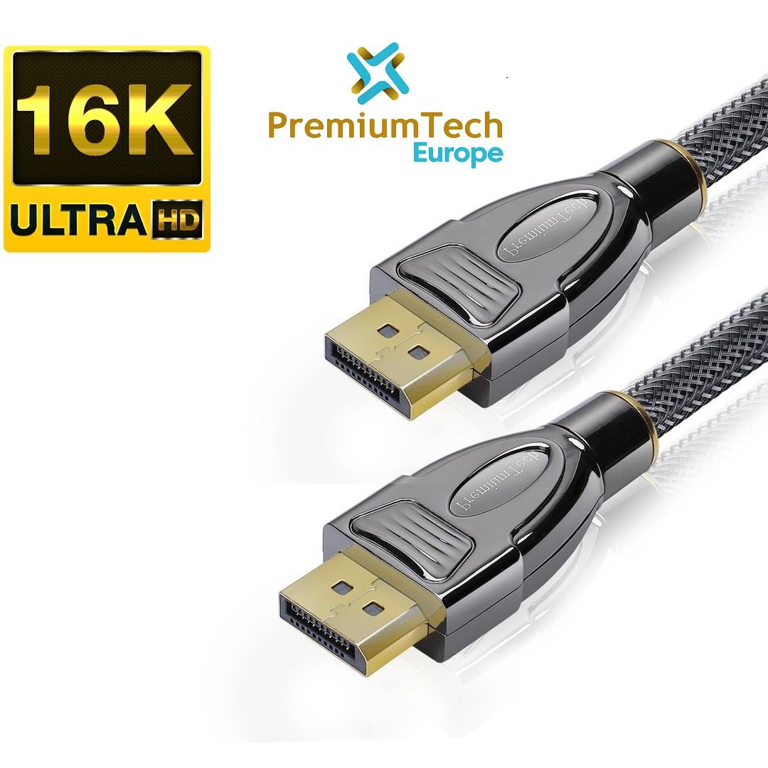 DisplayPort-2.0-Kabel PremiumTech Europe ist das erste europäische Unternehmen, das DisplayPort 2.0 Kabel mit 16K und 77,4 Gbps Geschwindigkeit anbietet