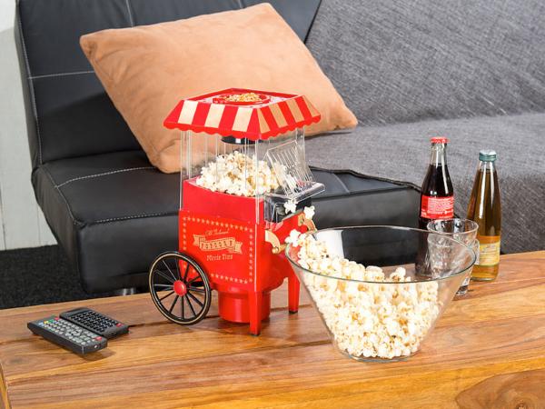 Rosenstein & Söhne Retro-Heißluft-Popcorn-Maschine
