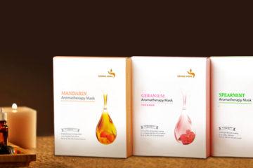 Aroma Yong Gesichtsmasken zur Aromatherapie. Vegane koreanische Kosmetik