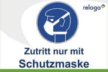 corona-pandemie maskenpflicht schutzmaske mund-nasen-schutz auf reloga anlagen